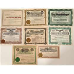 Coeur d'Alene, Idaho Mining Stock Certificate Collection  107508
