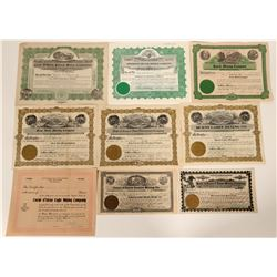 Coeur d'Alene, Idaho Mining Stock Certificate Collection  107516