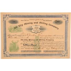 Elk City Mining & Milling Company Stock Certificate  106960