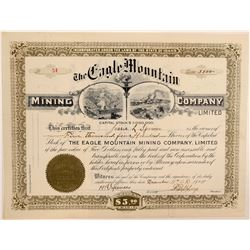 Eagle Mountain Mining Company, Ltd. Stock Certificate  106985
