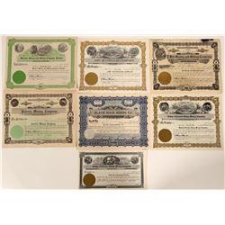 7 Different Kellogg, Idaho Mining Stock Certificates  107515