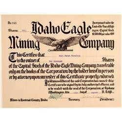 Idaho Eagle Mining Company Stock Certificate  106719