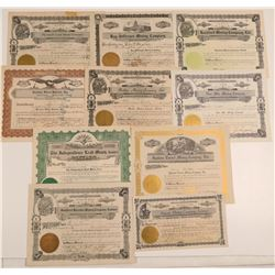 10 Different Wallace, Idaho Mining Stock Certificates  106728