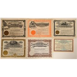 Six Different Wallace, Idaho Mining Stock Certificates  107520