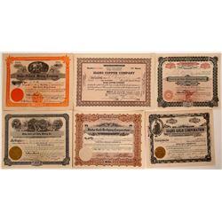 """""""Idaho"""" Named Mining Stock Certificates  107536"""