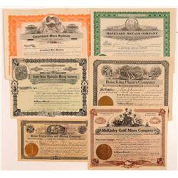 Boise Basin Mining Stocks (6)  108164