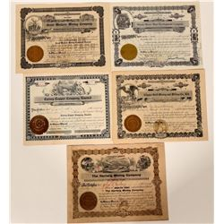 Five Small-town Idaho Mining Stock Certificates  107467