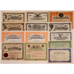Idaho Mining Stock Certificate Collection (13)  106687