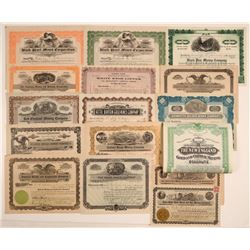 Idaho Mining Stock Certificate Collection (16)  106804