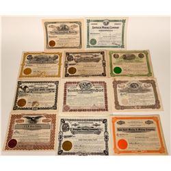 Idaho Mining Stock Certificates (11)  107572