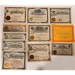 Idaho Mining Stock Certificates (11)  107570