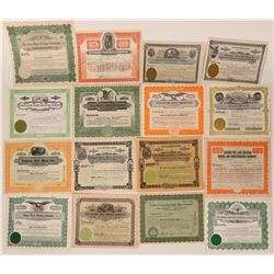 Idaho Mining Stock Certificates (16 Different)  107479