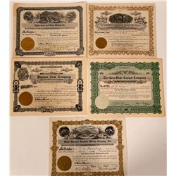 Idaho Rare Metals Stock Certificates  107538