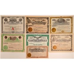 Seven Different Idaho Mining Stock Certificates  106683