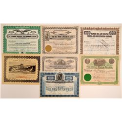 Seven Different Idaho Mining Stock Certificates  106684