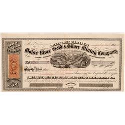 Great Consolidated Boise River Gold & Silver MC Stock  108203