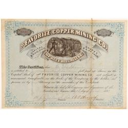 Favorite Copper Mining Co. Stock Certificate  106941