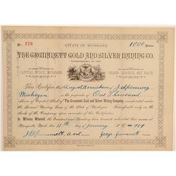 Grummett Gold & Silver Mining Co. Stock Certificate  106976