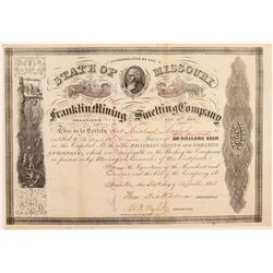Franklin Mining & Smelting Company Stock Certificate  107432