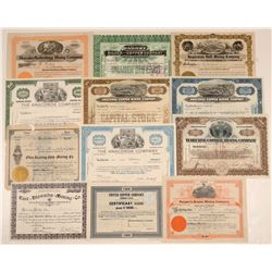 Twelve Butte, Montana Stock Certificates  105826