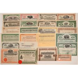 Butte, Montana Mining Stock Certificates & Bonds (23)  106736