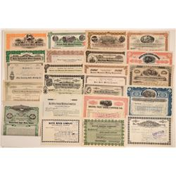Over 20 Different Butte Mining Stock Certificates  106737