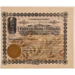 Gold Coin Mining & Milling Co. Stock with Gold Coin Vignettes  106794