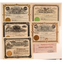 Five Montana Stock Certificates and one check  105821