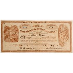 Montana Gold Mining Co Stock  109531