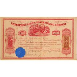 Enterprise Gold & Silver Mining Co. Stock Certificate, Aurora District.  106965