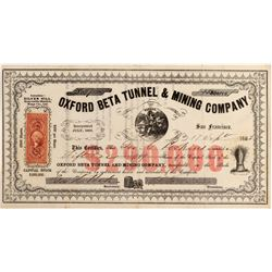 Oxford Beta Tunnel & Mining Company Stock Certificate  106933