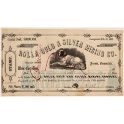 Rolla Gold & Silver Mining Co. Stock Certificate  106825