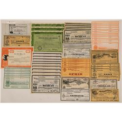 Large Comstock Mining Stock Certificate Collection  107397