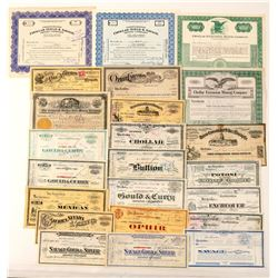 Major Comstock Mining Stock Certificate Collection  101617