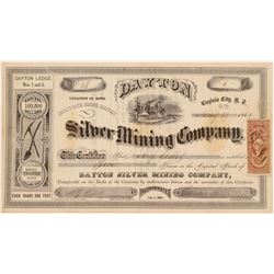 Dayton Silver Mining Company Stock Certificate  106993