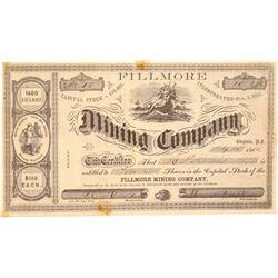 Fillmore Mining Company Stock Certificate  106989