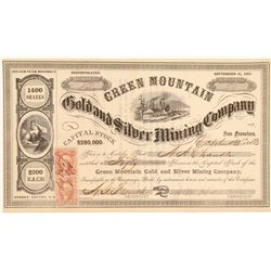 Green Mountain Gold & Silver Mining Co. Stock issued to NA Chandler  106990