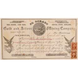 El Dorado Gold & Silver Mining Company Stock Certificate  106978