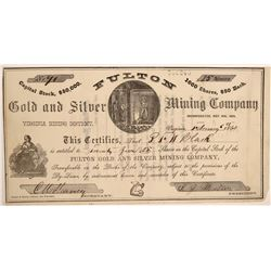 Fulton Gold & Silver Mining Company Stock Certificate  106999