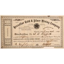 Hasselloe Gold & Silver Mining Company Stock Certificate  107422