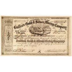 Bullion Gold & Silver Mining Company Stock  91886