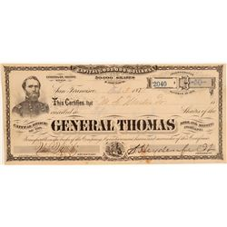 General Thomas Mill & Mining Co. Stock Certificate (G.T. Brown Lith.)  106968