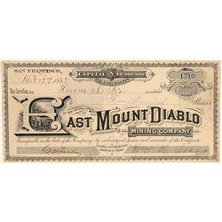 East Mount Diablo Mining Company Stock Certificate  106984