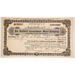 Early Goldfield Co Mines Stock with Wingfield Sig  90561