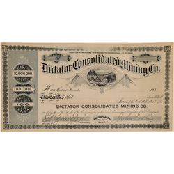 Dictator Consolidated Mining Company Stock Certificate  107433