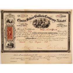 Elmira Silver Bullion Company of Nevada Stock Certificate  106979