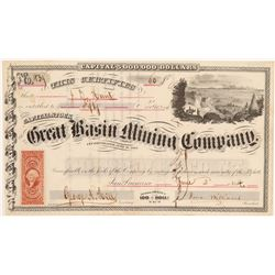 Great Basin Mining Company Stock Certificate  106991