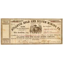 Atlantic Gold & Silver Mining Co. Stock Certificate  107057