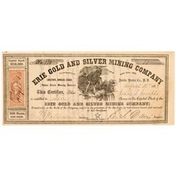 Erie Gold & Silver Mining Company Stock Certificate  107053