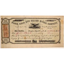 Flora Gold & Silver Mining Company Stock Certificate  107423